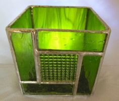 VintageLook Green Stained Glass Candle by ArtisticGlassworks, $25.00