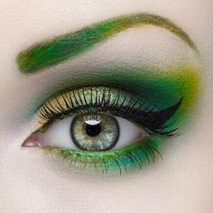 Eyes Makeup - like poison ivy - might be a good look for St. Patty's Day.