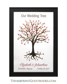 Thumbprint Guestbook Tree # 2 Fall Colors  Check it out http://thumbprintguestbooks.com/thumbprint-guestbook-tree-2-fall-colors/