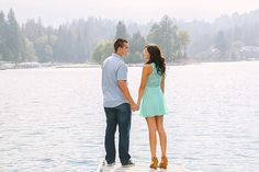 Lake Arrowhead Engagement Session. Elizabeth Burgi Photography. George Street Photography.