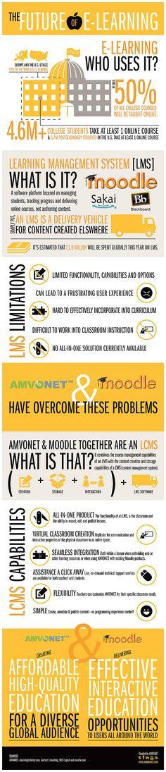The future of e-learning #infografia #infographic #education