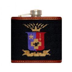 Sigma Phi Epsilon Needlepoint Flask in Black by Smathers & Branson