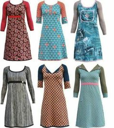 Kjoleinspiration - Another! Pretty Outfits, Cool Outfits, Casual Outfits, Fashion Outfits, Sewing Clothes, Diy Clothes, Clothes For Women, Clothing Patterns, Dress Patterns