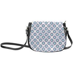 CV0070 Blue and Purple Flowers large Pattern Classic Saddle Bag/Small (Model 1648) More with this flower pattern: http://www.artsadd.com/search/cv0070?rf=10791