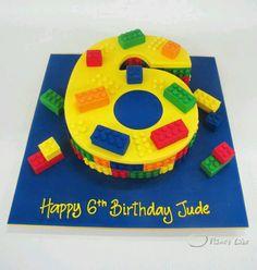 6th birthday lego cake