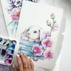 Дорисовала наконец малышаОбожаю орхидеи, моё любимое комнатное растение, но цветёт она у меня крайне редко #акварель #watercolor #aquarelle #painting #waterblog #cartel_watercolorists #inspiring_watercolors #watercolour_gallery #top_watercolor #art_we_inspire #sketch_daily #рисунокназаказ #arts_visualization #artsourse #illustration #иллюстрация #иллюстрацияназаказ #орхидея #orchid #кролик