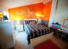Orange Dino Kid S Room Love This My 6 Yo Son Fave Color Is
