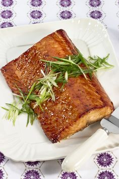 Sweet and salty flavors combine to glaze this melt-in-your-mouth salmon fillet.  Recipe: Pineapple and Soy-Glazed Salmon.   - CountryLiving.com