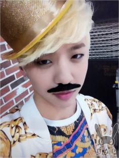 Bang Yongguk(B.A.P) with mustache