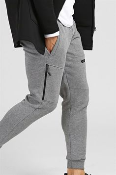 Side Zippered Gray Sweatshirts Source by Mens Joggers Sweatpants, Mens Jogger Pants, Joggers Outfit, Sport Pants, Mens Capri Pants, Track Pants Mens, Mens Polo T Shirts, Formal Shirts For Men, Running Pants