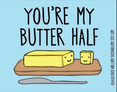Butter half