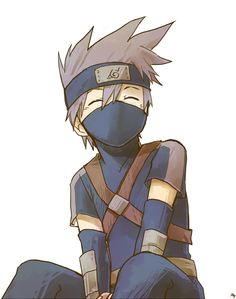 Young Kakashi | Naruto #anime (awww, I still think he's a little kid on the inside.)