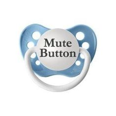 Mute button for babies