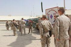 1st Marine Regiment cases colors, ends mission in Afghanistan