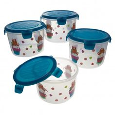 8pc Lock & Lock Gingerbread Airtight Food Storage Container Set