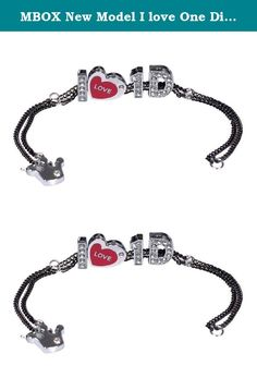 MBOX New Model I love One Direction I Love 1d Color Chain Bracelet With Dangle zircon Crystal Letter Heart Crown,17CM. One Direction Member Bracelet with Zircon Crystal Letter & Heart & Crown Symbol.