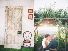 Love the idea of the door acting as the guest book