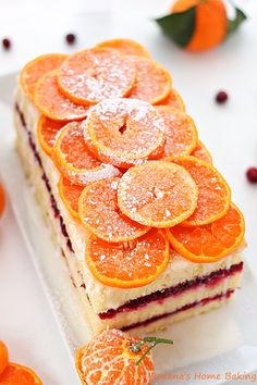 Citrus cranberry layer cake - a light and refreshing citrus cake sandwiched with tart cranberry sauce for an explosion of flavors and textur...