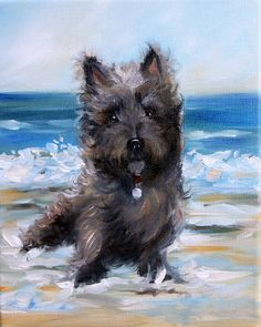 Cairn On The Beach Painting by Mary Sparrow