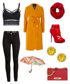 """""""Untitled #32"""" by kacenka12 on Polyvore featuring Charlotte Russe, Moschino, Patricia Nash and rainydayoutfit"""