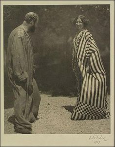 """Emilie Flöge and Gustav Klimt"" (c.1905) Photo by Moritz Nähr"