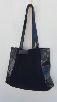 Wildstar Velvet & Snakeskin tote bag. ...available now £49.99 reduced from 89.99...Sample. last one available.