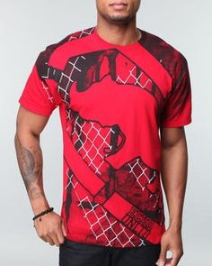 NEW! Ecko Rhino Grid SS T Shirt Red  Reg. Price $28.40  Sale Price: $16.00  http://www.cluburban.com/Ecko-Rhino-Grid-SS-T-Shirt-Red-p/eud-90260-tred.htm#