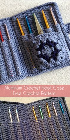 Aluminum Crochet Hook Case - Free Crochet Pattern