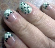 Green Plaid Nails