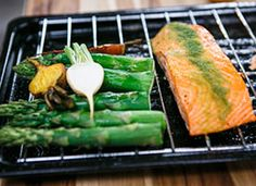 Wolfgang Puck's Herb Dusted Salmon - more moist and flavorful when made in the pressure oven.