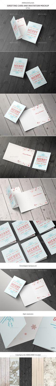 Greeting Card and Invitation Mockup   #cardmockup #invitationmockup   Download: http://graphicriver.net/item/greeting-card-and-invitation-mockup/9242599?ref=ksioks