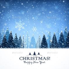 Christmas Background with Trees — JPG Image #celebration #forest • Available here → https://graphicriver.net/item/christmas-background-with-trees/9643281?ref=pxcr