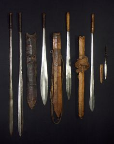 six Masai swords.jpg - African sword and knife - African Weapons