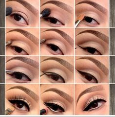 Easy step by step on how to do a cat type of eyeliner!
