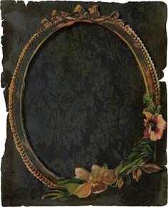 Here was a frame from a cd that seemed like it wanted to be textured Vintage Frames, Vintage Cards, Vintage Paper, Vintage Prints, Printable Frames, Free Printable, Frame Crafts, Book Of Shadows, Paper Background
