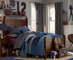 Love this color palette! Was thinking grey and white for my son's room. I like this lighter grey though, very nice