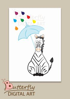 Excited to share the latest addition to my #etsy shop: zebra for baby boy's room- Instant download http://etsy.me/2CqTHyq #art #drawing #blue #white #babyshower #digitalart #nursery #zebra #decor