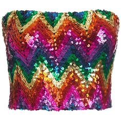 Bundy & Webster - Rainbow Sequin Bandeau (€29) ❤ liked on Polyvore featuring bandeau, rainbow and sequin