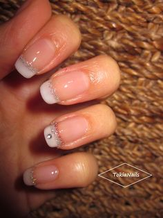 glitter french - Nail Art Gallery
