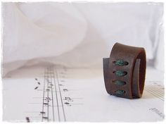 Celtic Leather Ring Brown Leather Ring Men's Leather