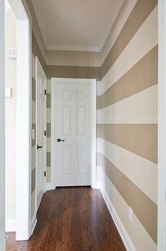 LOVE the hallway paint. update my main bedroom hallway. add white stripes!!! its already soft suede!!