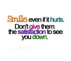 Never give up! #SmilingEffect ツ