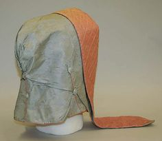 Bonnet- mid 19th cent- American-   another one of those odd hoods
