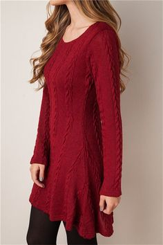 Four-color knit sweater dress O neck long-sleeved pullover bottoming dress,robe, fashion dresses TT1506