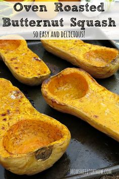 Fall is a great time to stock up on squash and you can easily cook upthree or four at once, scoop the flesh out and freeze it for quick and easy recipes in the future!  Use it as a healthy addition to your soup recipe or just enjoy it as a side dish!