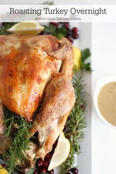 I have roasted lots of turkeys. I first started off cooking a turkey the way my mom did it. Then one night I just knew I was ready for a change. Fun Easy Recipes, Easy Meals, Healthy Recipes, Amazing Recipes, Slow Roasted Turkey, Cooking Turkey, Holiday Dinner, Spring Recipes, Turkey Recipes