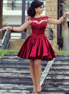 dresses short prom dresses party dresses from bbhomecoming homecoming dresses short prom dresses party dresses · bbhomecoming · Online Store Powered by Storenvy Short Red Prom Dresses, Long Sleeve Homecoming Dresses, Elegant Homecoming Dresses, Dresses Elegant, Hoco Dresses, Prom Dresses With Sleeves, Sexy Dresses, Evening Dresses, Bridesmaid Dresses
