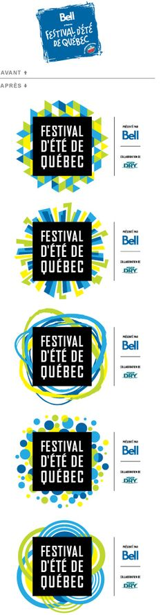 new identity of the Quebec City Summer Festival - Dynamic Logo