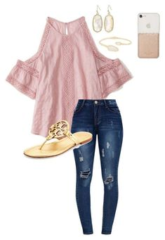 School by abbyharshman8 on Polyvore featuring Abercrombie & Fitch, Tory Burch, Kendra Scott and Kate Spade