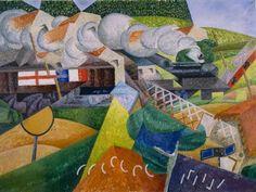 Gino Severini - Red Cross Train Passing a Village – 1915